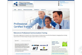 Professional Communications Training website