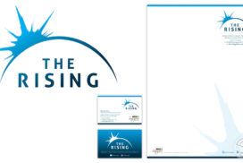 The Rising – Youth Work and Mentoring branding
