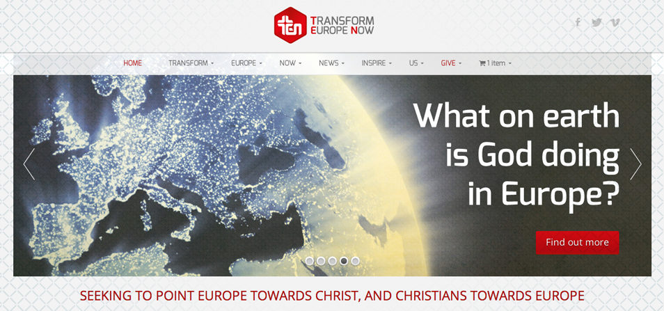Transform Europe Now – Website